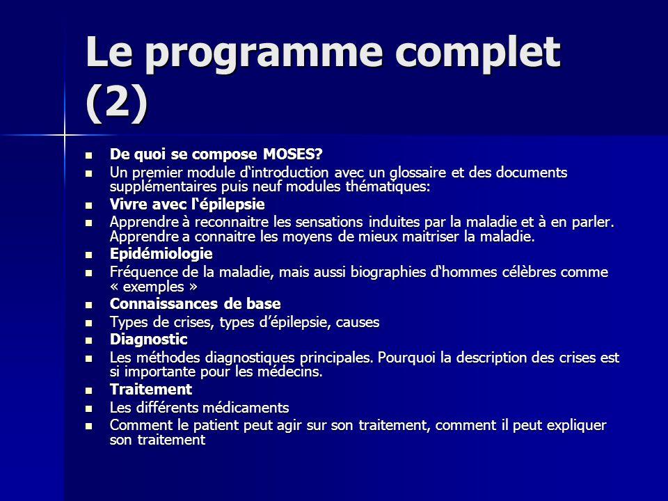 Le programme complet (2)