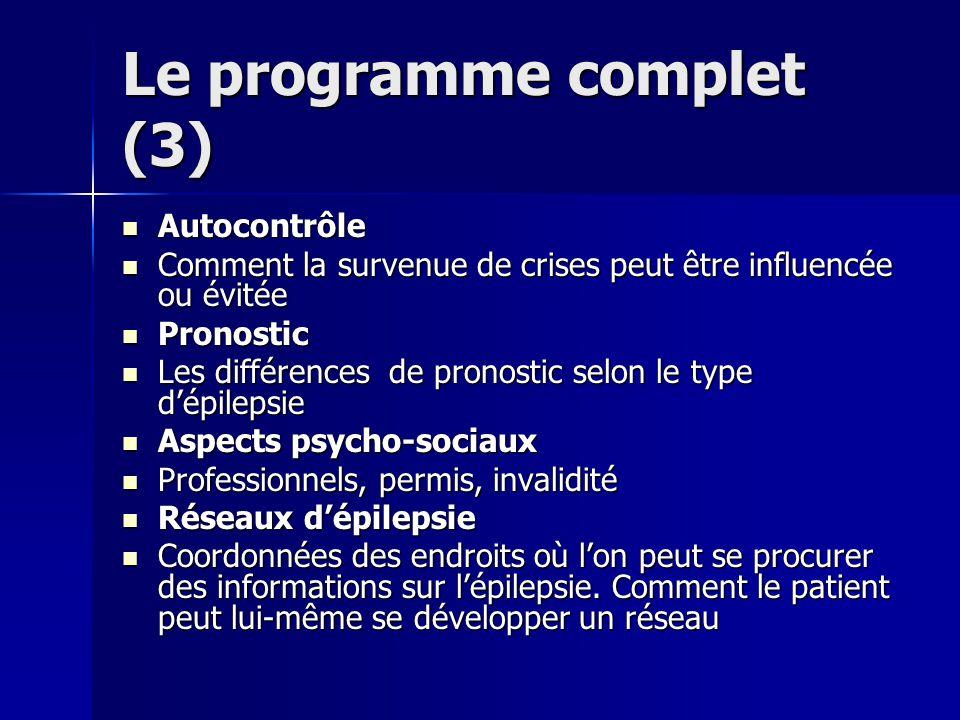 Le programme complet (3)