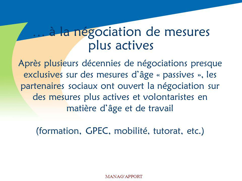 … à la négociation de mesures plus actives