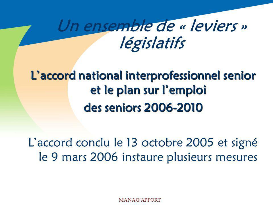 Un ensemble de « leviers » législatifs