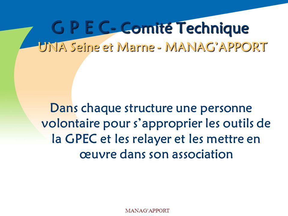 G P E C- Comité Technique UNA Seine et Marne - MANAG'APPORT