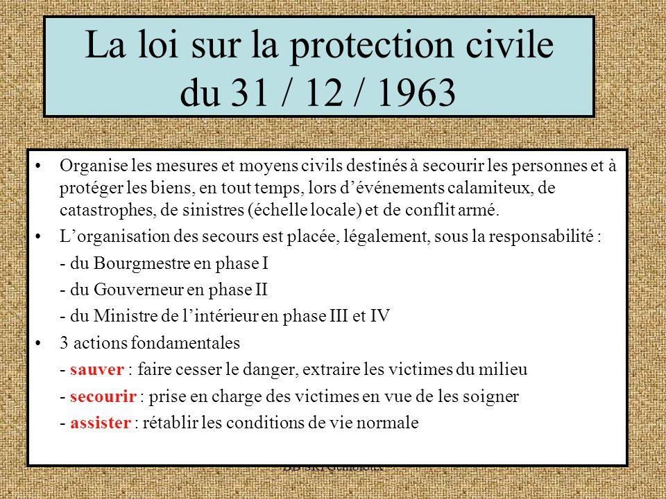 La loi sur la protection civile du 31 / 12 / 1963