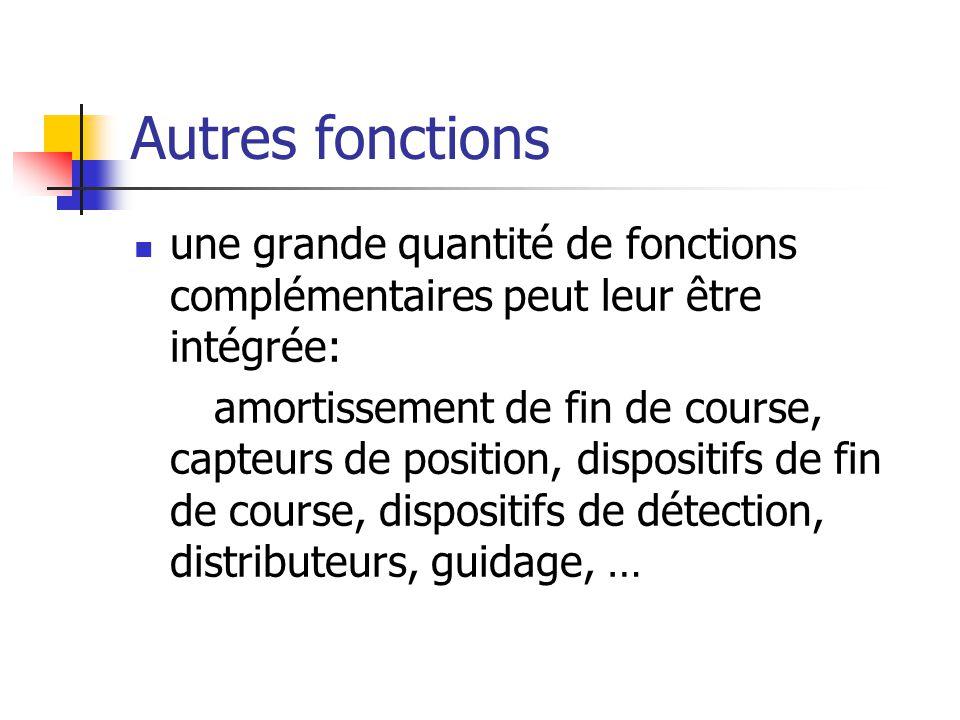 Autres fonctions une grande quantité de fonctions complémentaires peut leur être intégrée:
