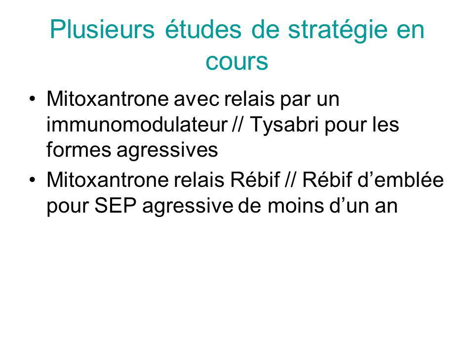 Plusieurs études de stratégie en cours