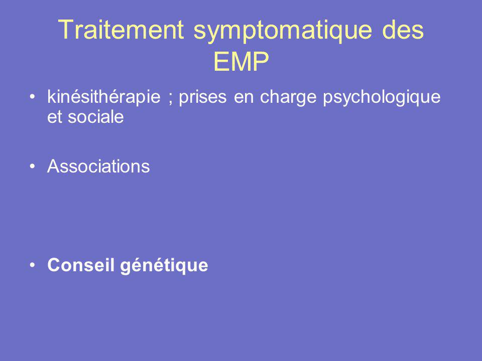 Traitement symptomatique des EMP