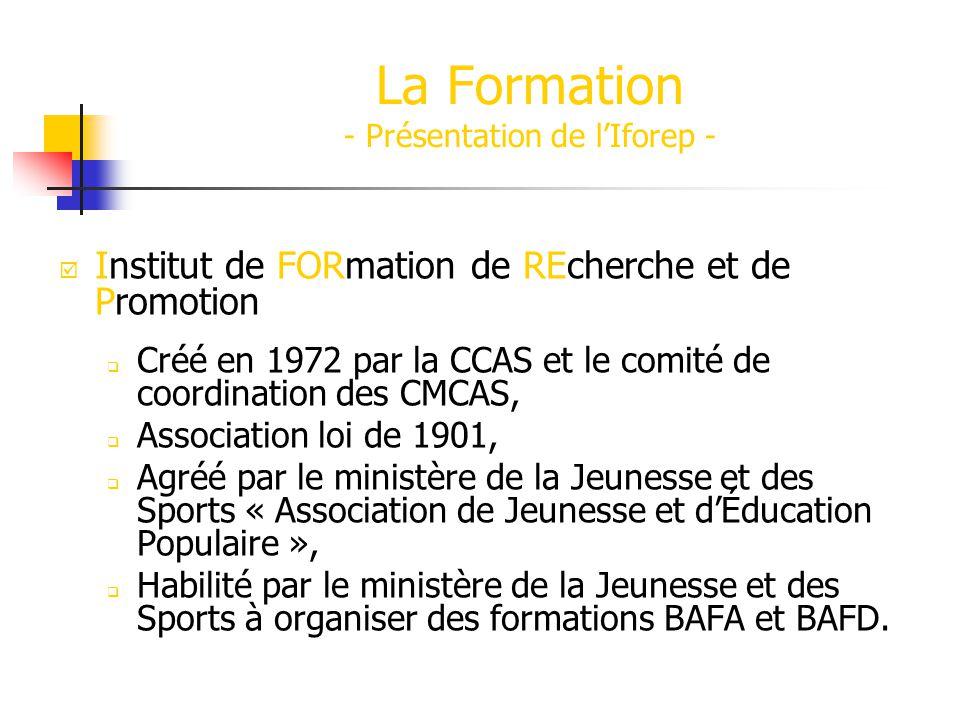 La Formation - Présentation de l'Iforep -