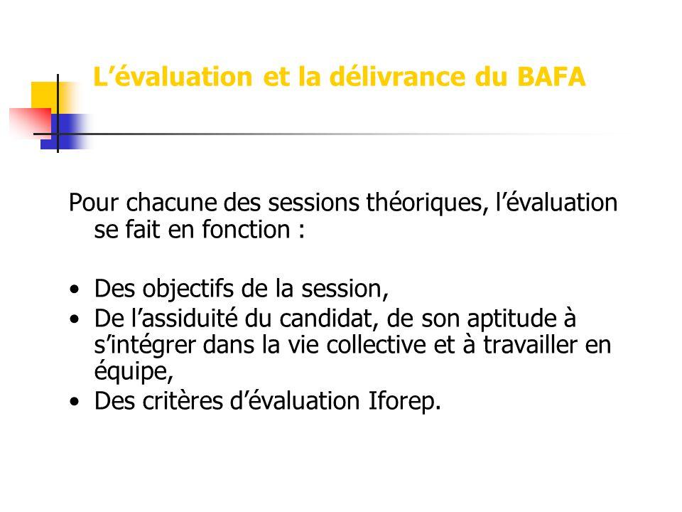 L'évaluation et la délivrance du BAFA