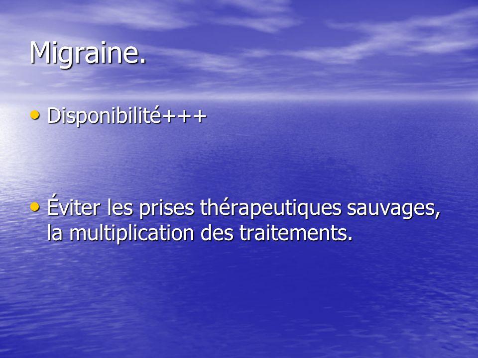 Migraine. Disponibilité+++