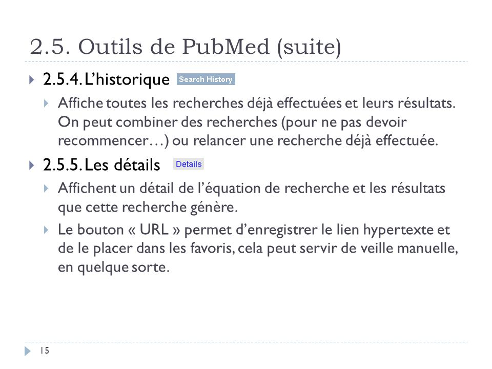 2.5. Outils de PubMed (suite)
