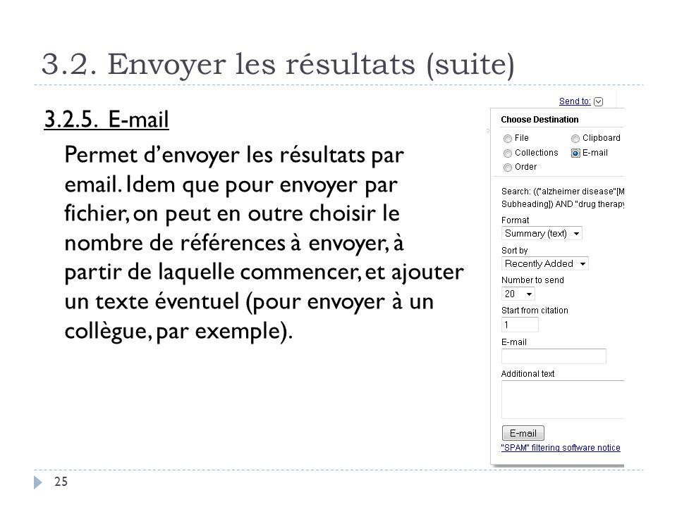 3.2. Envoyer les résultats (suite)