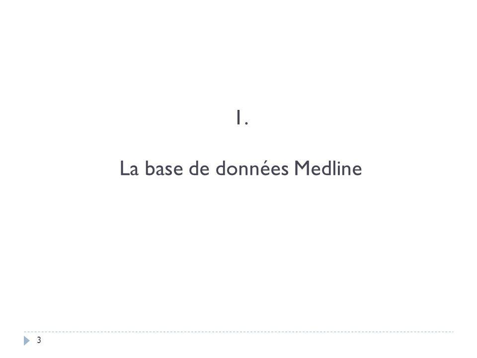 1. La base de données Medline