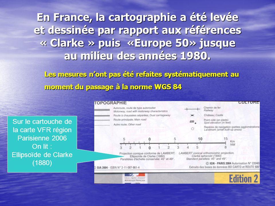 Sur le cartouche de la carte VFR région Parisienne 2006