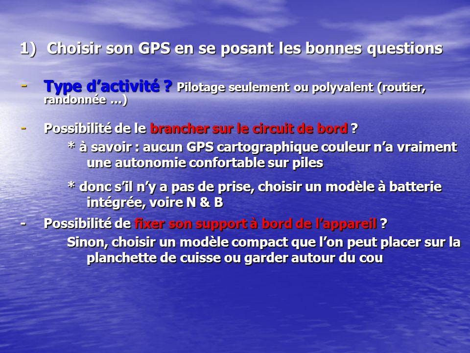 Choisir son GPS en se posant les bonnes questions