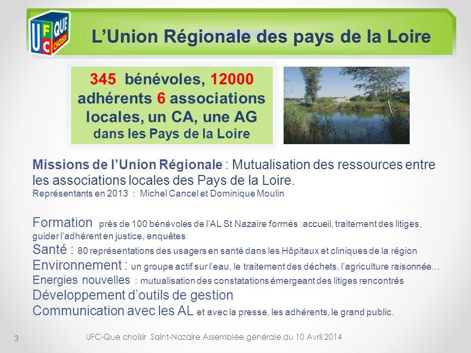 L'Union Régionale des pays de la Loire