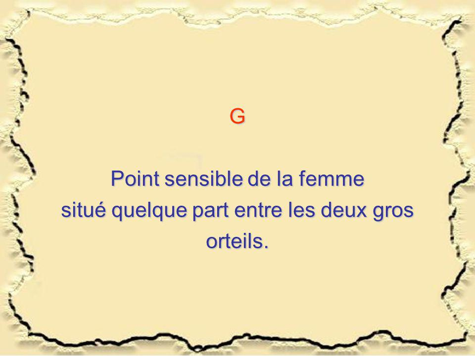 Point sensible de la femme