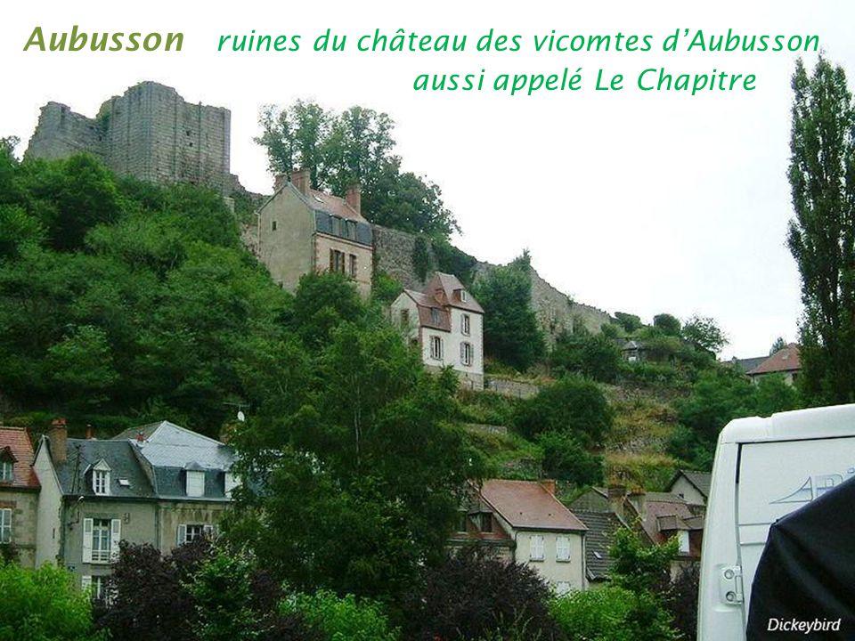 Aubusson ruines du château des vicomtes d'Aubusson