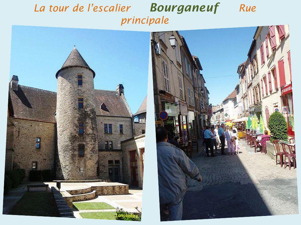 La tour de l'escalier Bourganeuf Rue principale