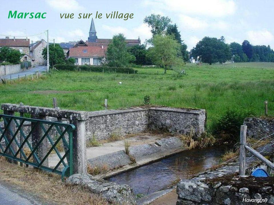 Marsac vue sur le village