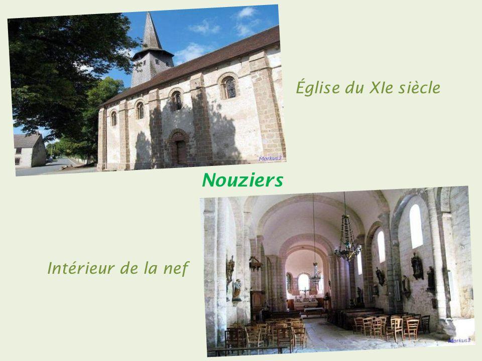 Église du XIe siècle Nouziers Intérieur de la nef