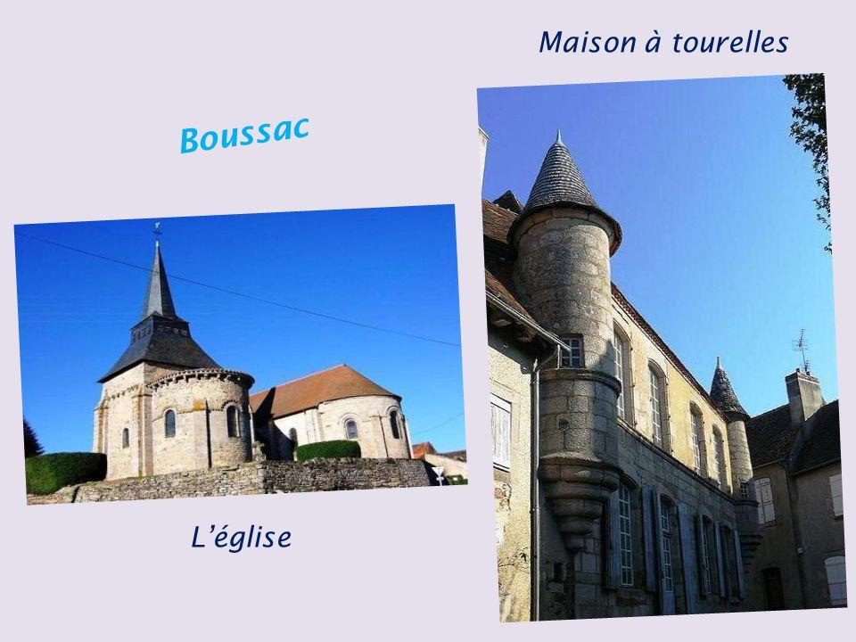 Maison à tourelles Boussac L'église