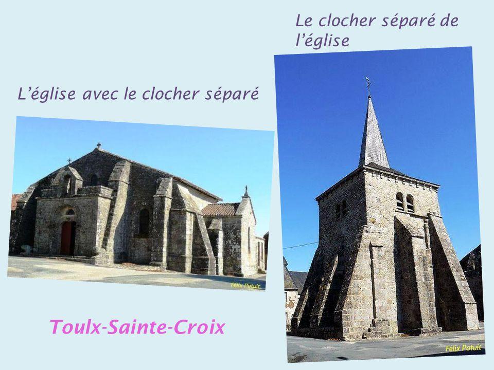 Toulx-Sainte-Croix Le clocher séparé de l'église