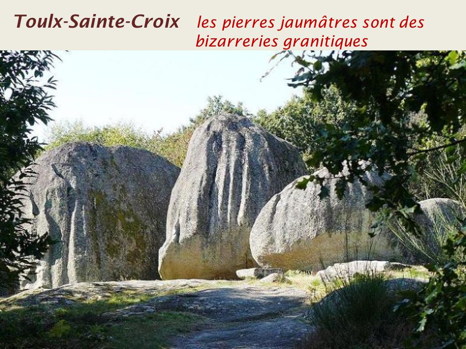 Toulx-Sainte-Croix les pierres jaumâtres sont des