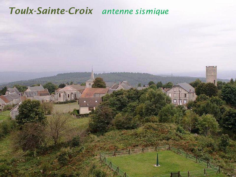 Toulx-Sainte-Croix antenne sismique