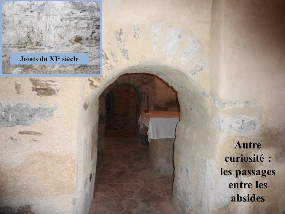 les passages entre les absides