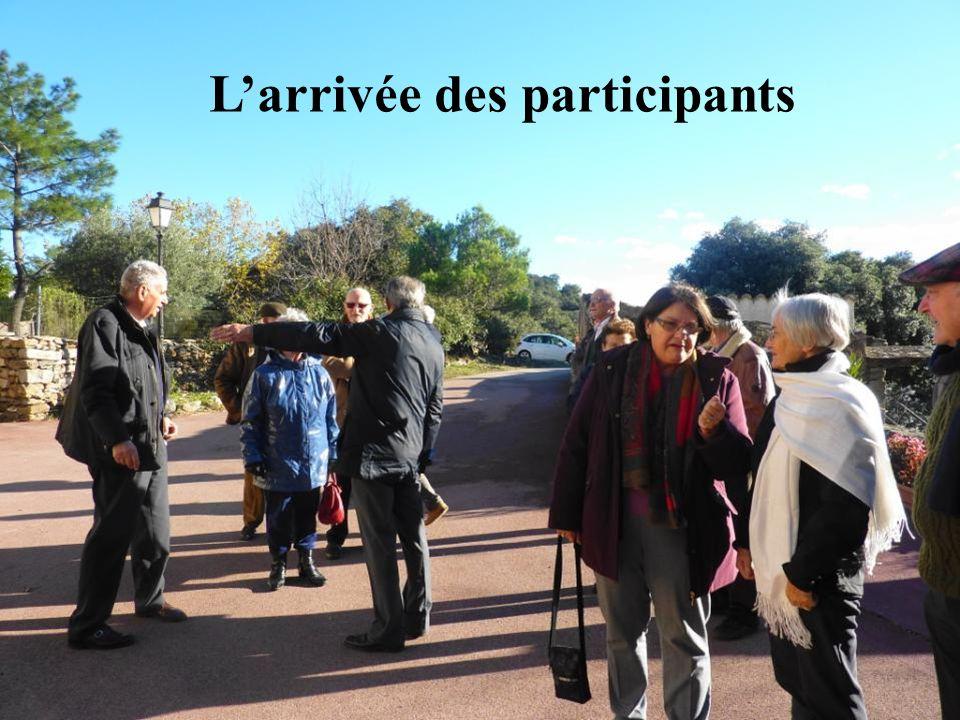 L'arrivée des participants