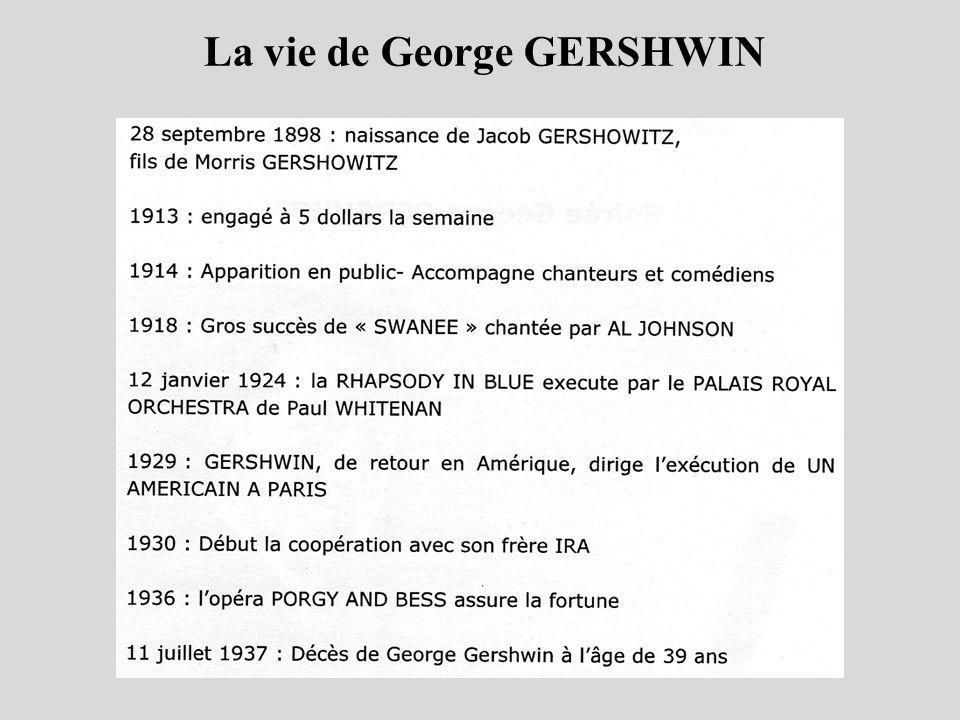 La vie de George GERSHWIN