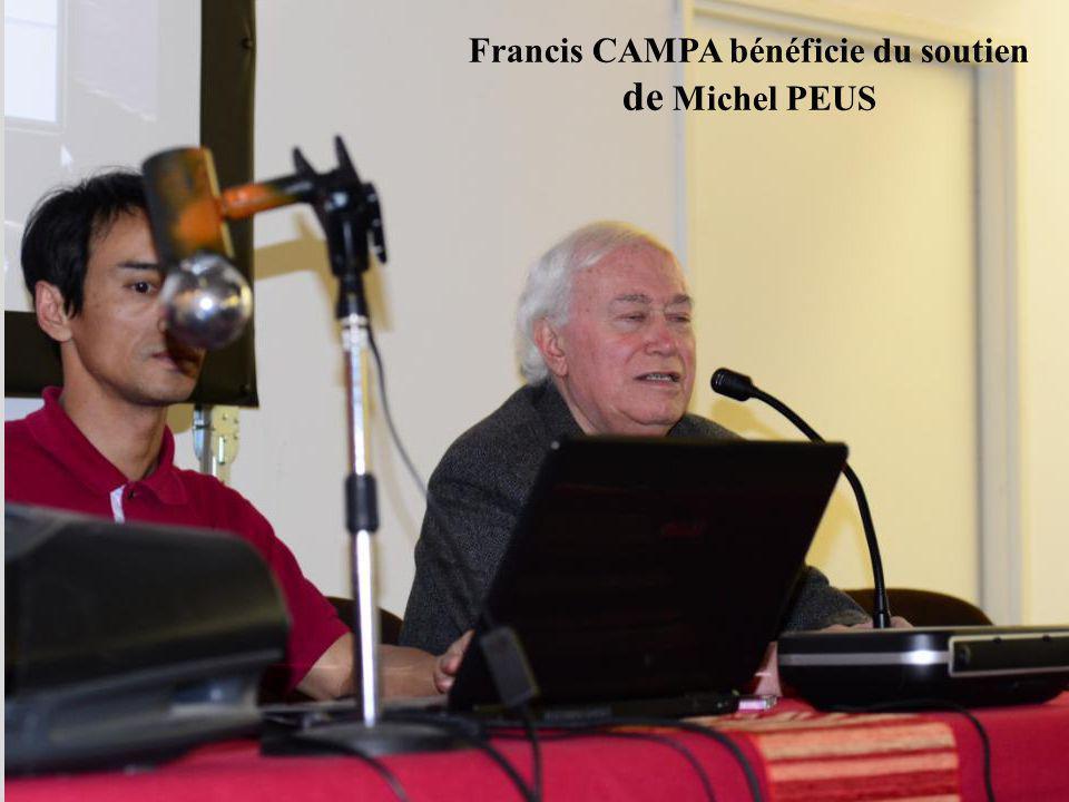 Francis CAMPA bénéficie du soutien