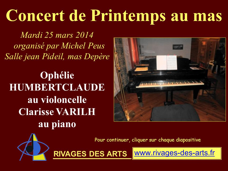 Concert de Printemps au mas Ophélie HUMBERTCLAUDE