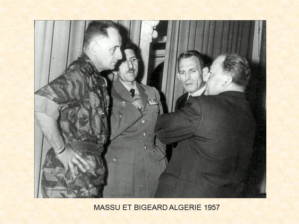 MASSU ET BIGEARD ALGERIE 1957