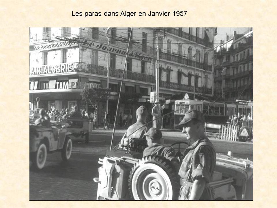 Les paras dans Alger en Janvier 1957