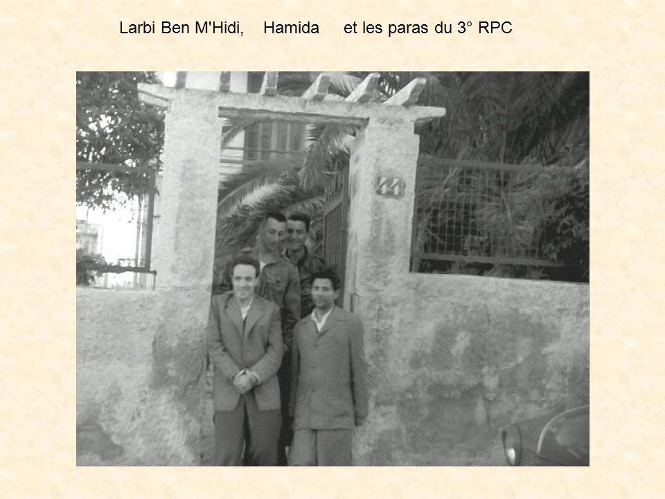 Larbi Ben M Hidi, Hamida et les paras du 3° RPC