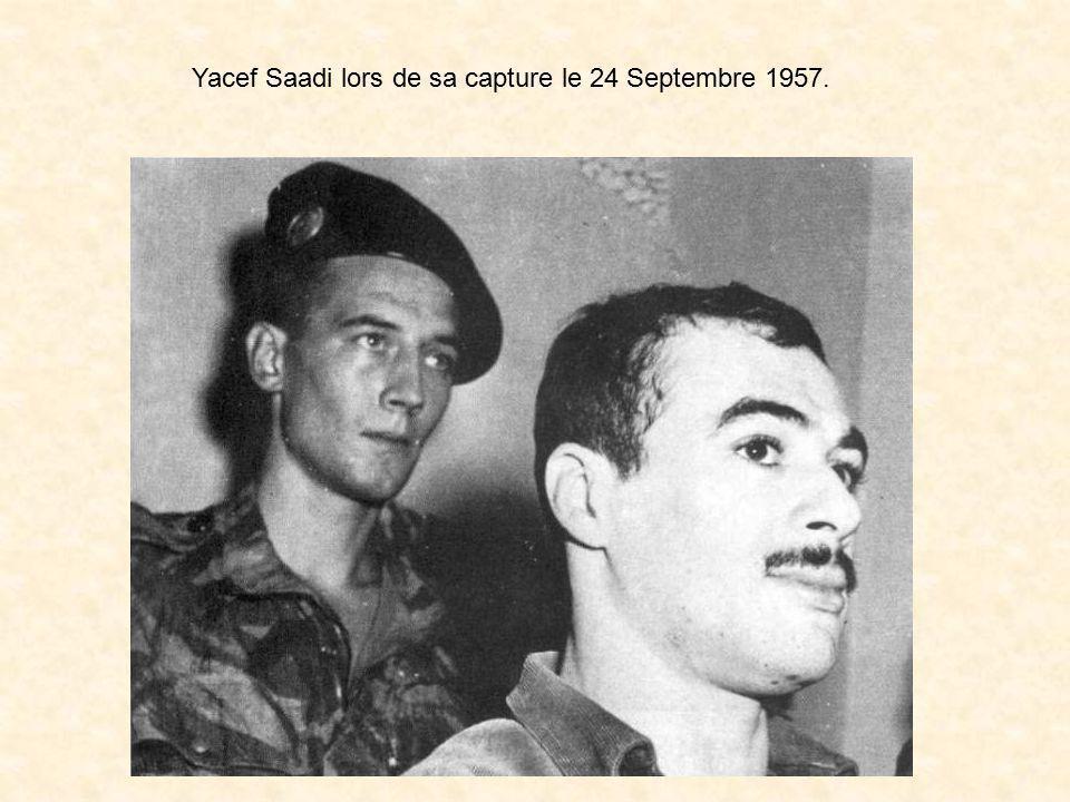 Yacef Saadi lors de sa capture le 24 Septembre 1957.
