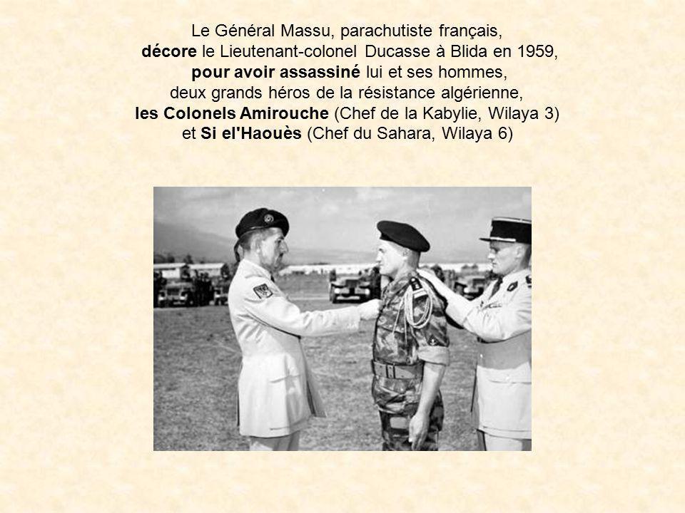 Le Général Massu, parachutiste français,
