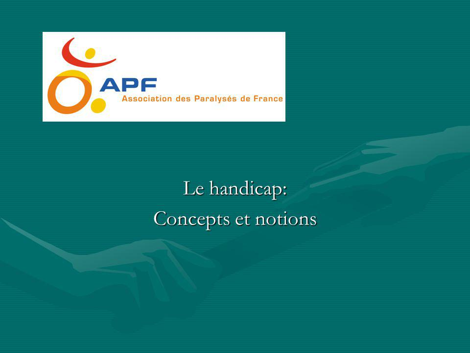 Le handicap: Concepts et notions