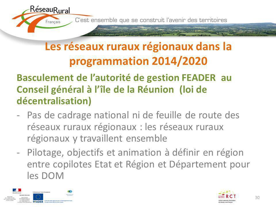 Les réseaux ruraux régionaux dans la programmation 2014/2020