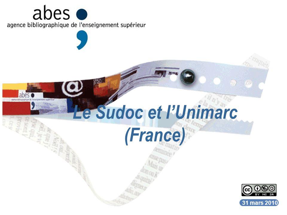 Le Sudoc et l'Unimarc (France)