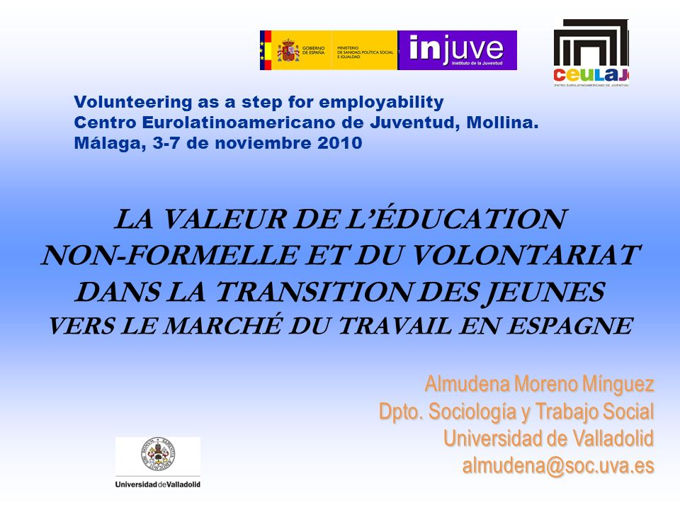 Volunteering as a step for employability