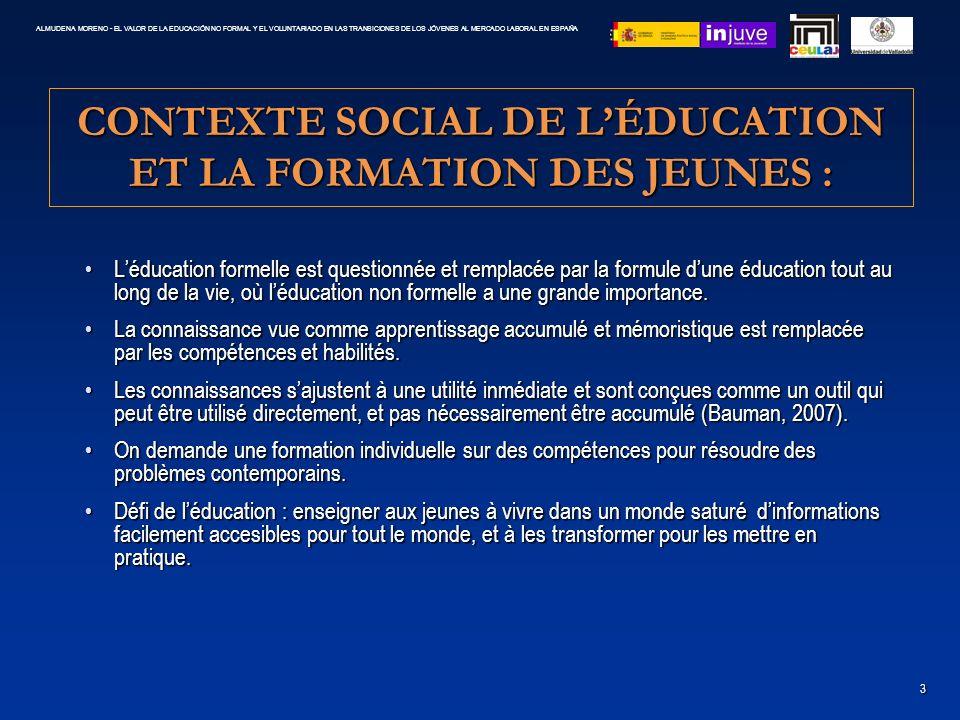 CONTEXTE SOCIAL DE L'ÉDUCATION ET LA FORMATION DES JEUNES :