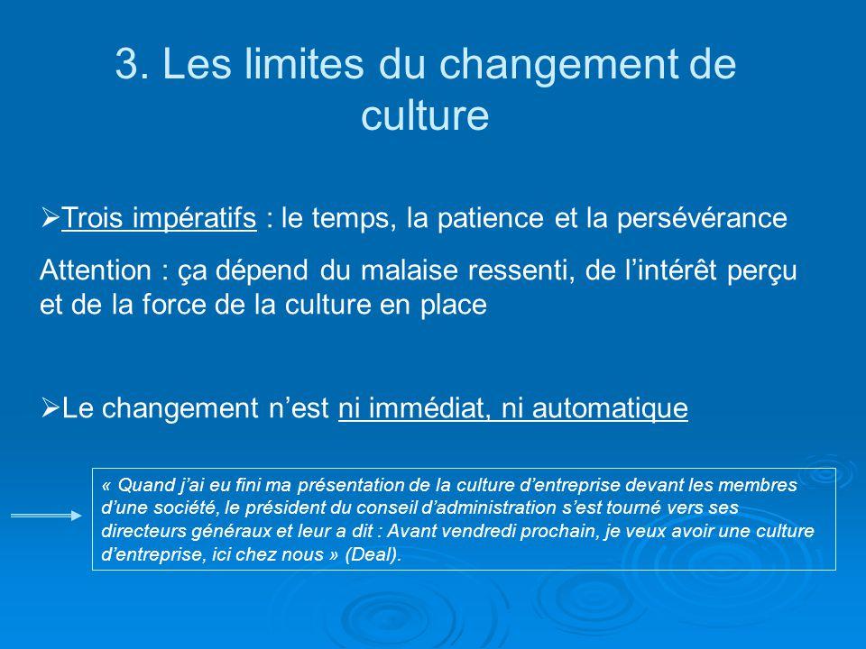 3. Les limites du changement de culture