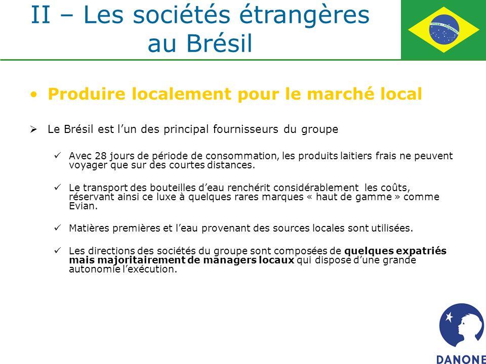 II – Les sociétés étrangères au Brésil