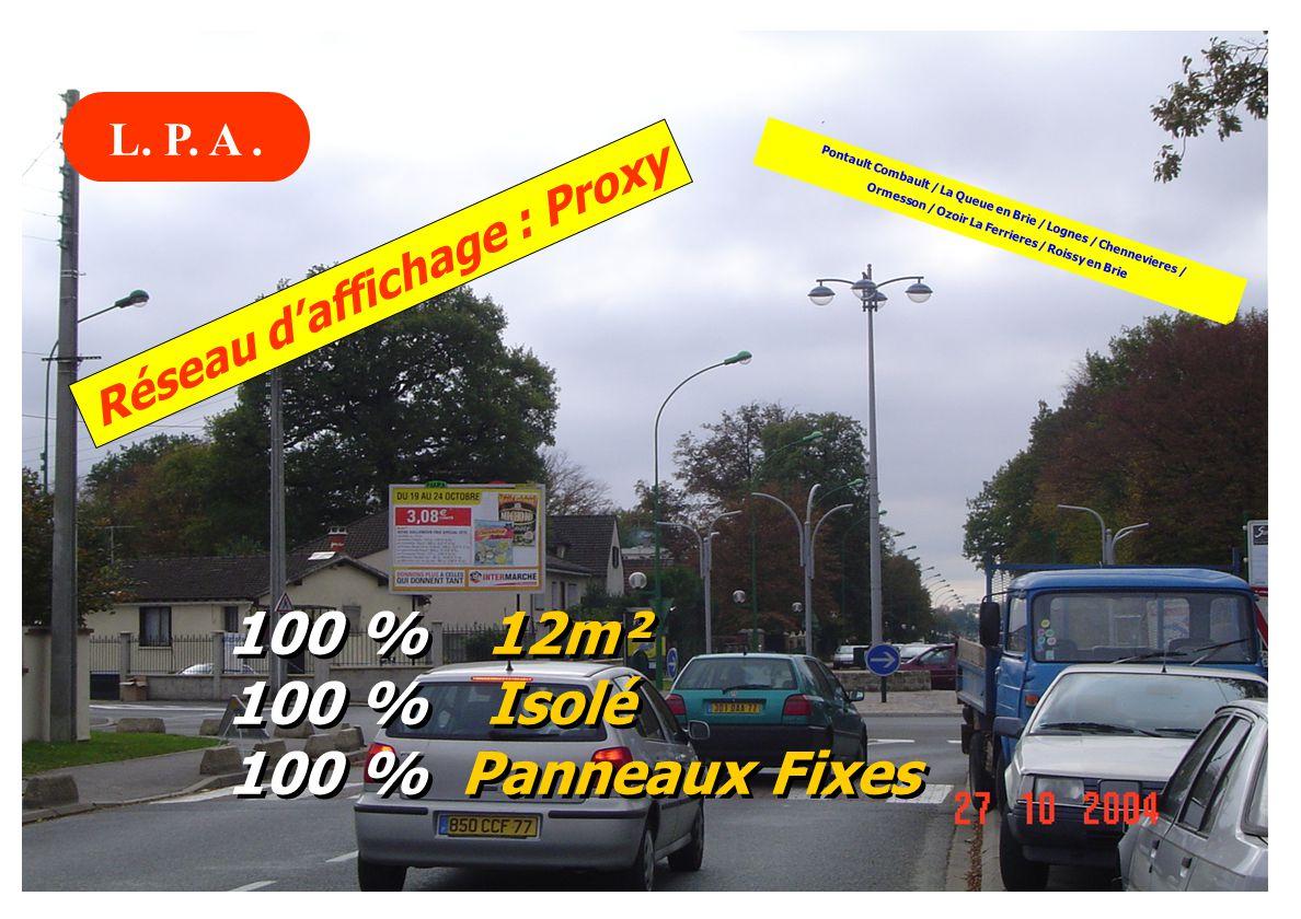 100 % 12m² 100 % Isolé 100 % Panneaux Fixes L. P. A .