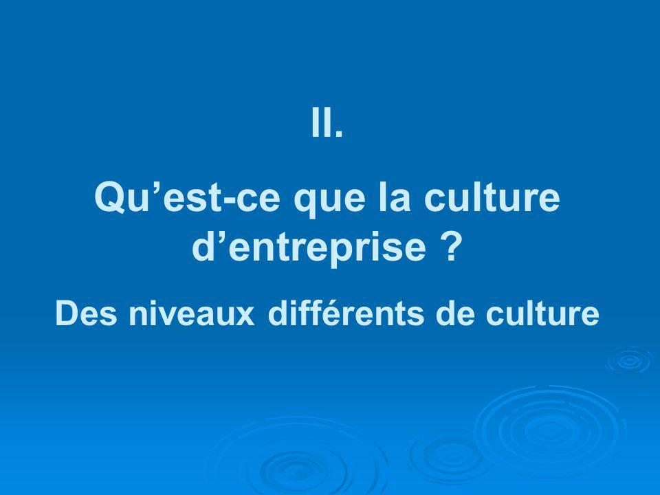 II. Qu'est-ce que la culture d'entreprise