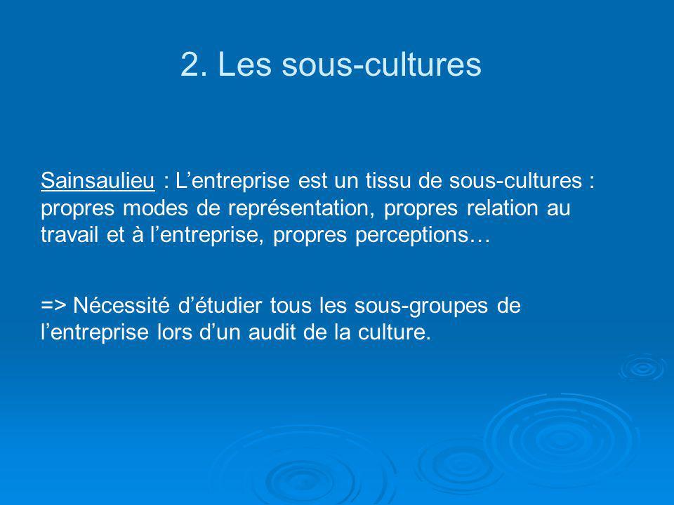2. Les sous-cultures