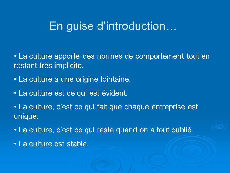 En guise d'introduction…