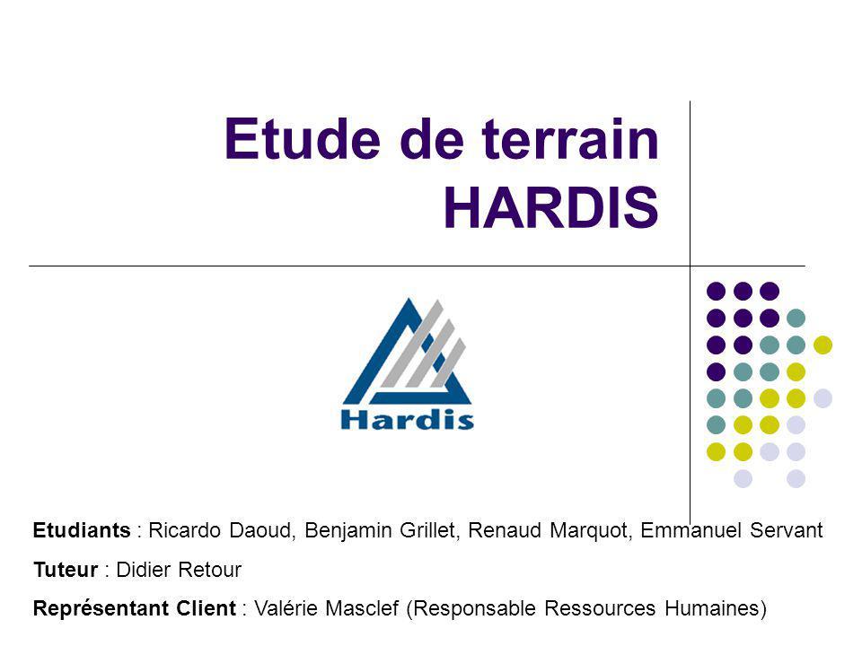 Etude de terrain HARDIS