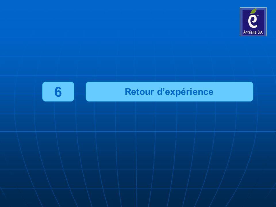 6 Retour d'expérience